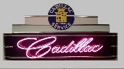 "Cadillac Service 48"" LONG X 24"" HIGH X 8"" DEEP CADILLAC NEON SIGN"