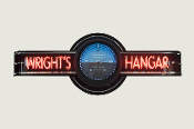 YOUR NAME HANGAR NEON CLOCK SIGN - Attitude Indicator