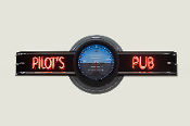 YOUR NAME PUB NEON CLOCK SIGN - Attitude Indicator