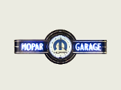 YOUR NAME GARAGE NEON CLOCK SIGN - Black with Blue Mopar