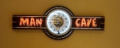 MAN CAVE NEON CLOCK SIGN