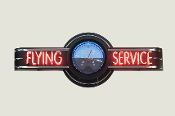 FLYING SERVICE NEON CLOCK SIGN - ATTITUDE INDICATOR