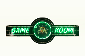 GAME ROOM NEON CLOCK SIGN