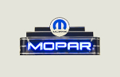 MOPAR Black Neon Sign