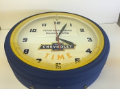 "20"" Neon Chevy Time Clock WITHOUT NAME PLAQUE"
